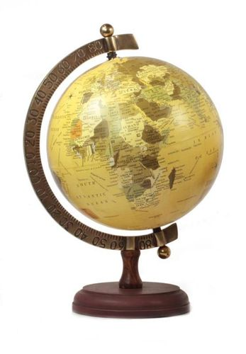 TABLE GLOBE WITH BRASS