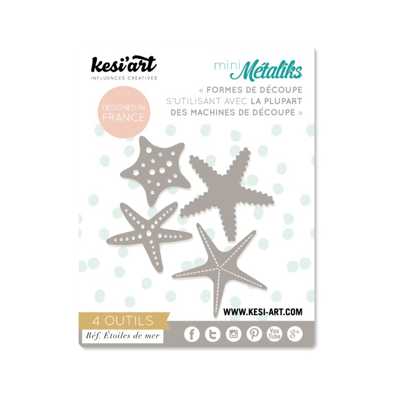 Kesi'Art Mini metaliks Starfishes