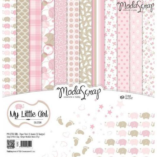 MODASCRAP - Paper Pack MY LITTLE GIRL 12X12""