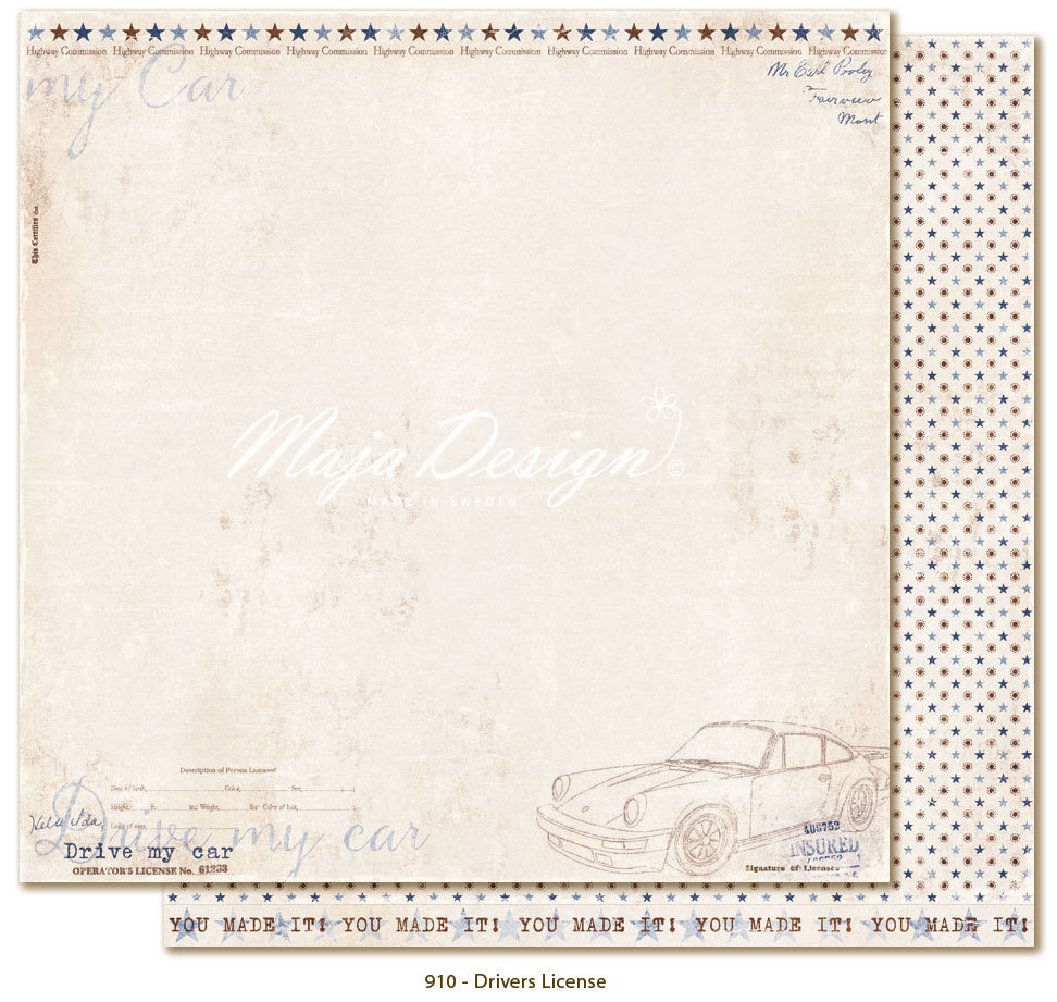 MAJA DESIGN Denim & Friends - Drivers License