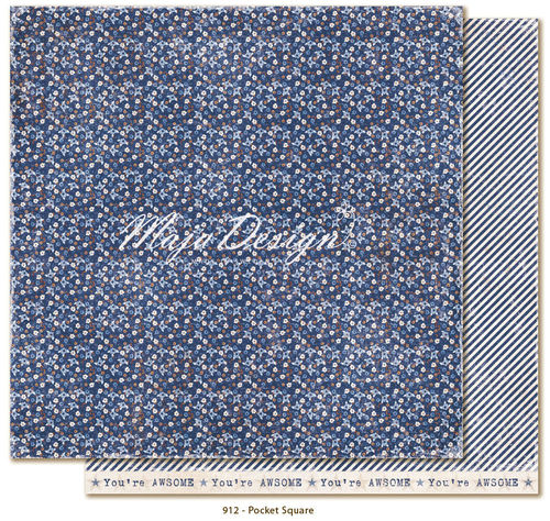 MAJA DESIGN Denim & Friends - Pocket square