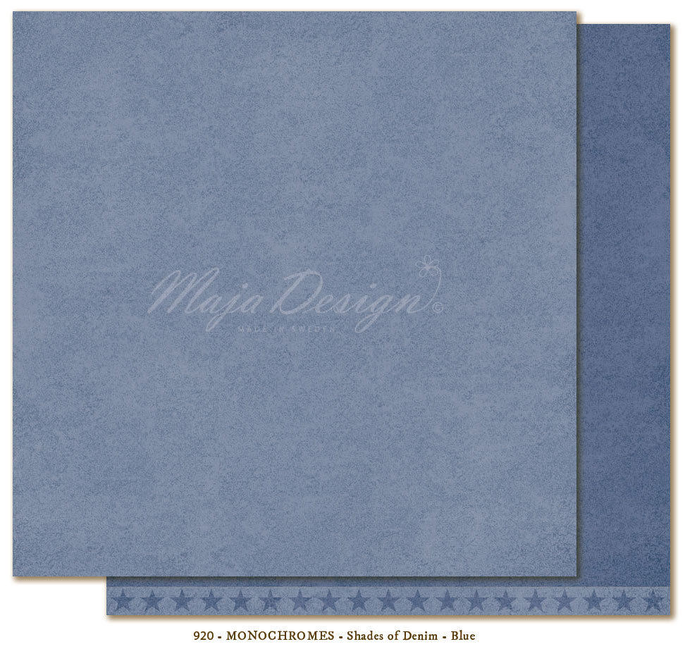 MAJA DESIGN Monochromes Shades of Denim BLUE