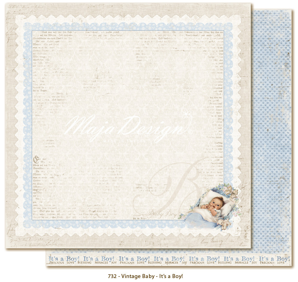 MAJA DESIGN Vintage Baby - It's a boy!