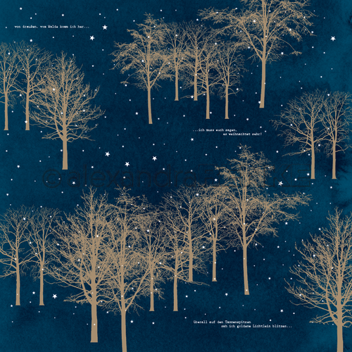 ALEXANDRA RENKE - 'Golden trees in the night'
