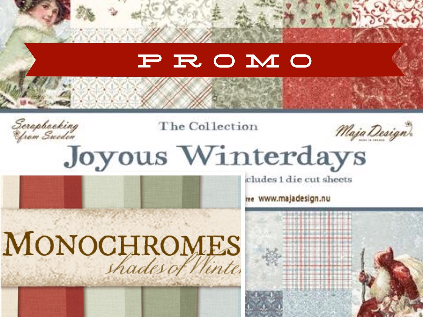 MAJA DESIGN Shades +Joyous of Winterdays  24 sheets