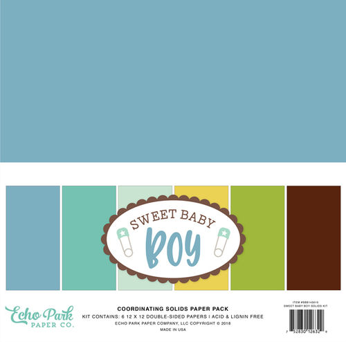 ECHO PARK - Sweet Baby Boy Solids Kit