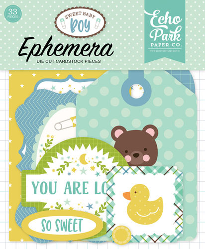 ECHO PARK - Sweet Baby Boy Ephemera