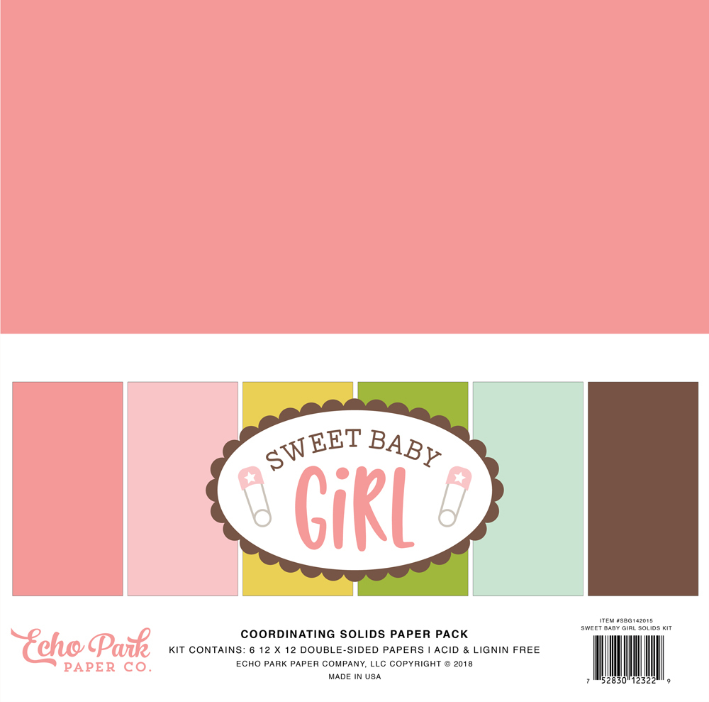 ECHO PARK - Sweet Baby Girl Solids Kit