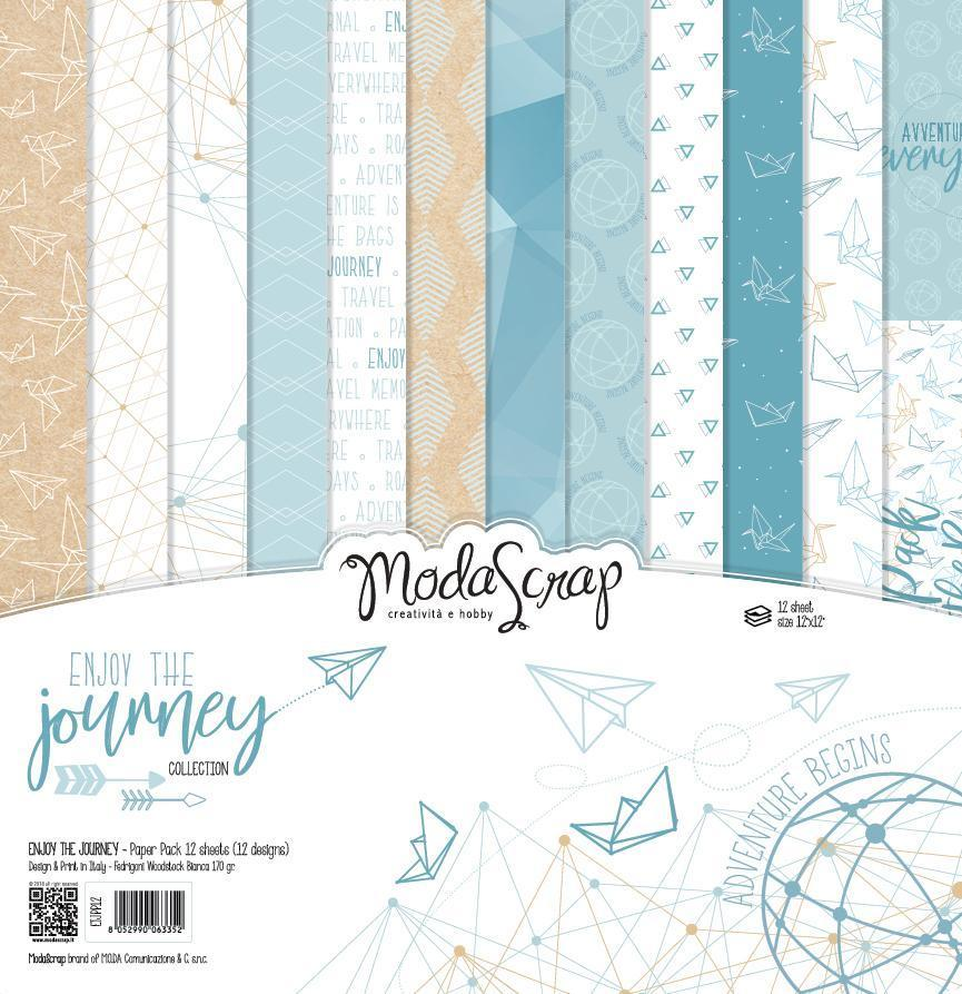 MODASCRAP - PAPER PACK  ENJOY THE JOURNEY 12X12""