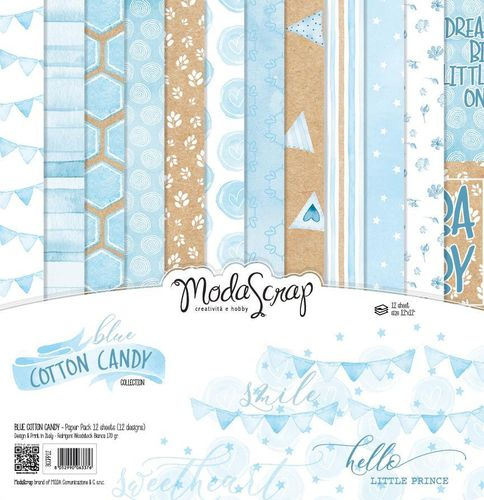 MODASCRAP - Paper Pack BLUE COTTON CANDY 12X12""
