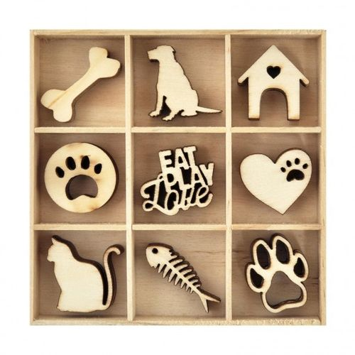 KAISERCRAFT FL596 wood flourish pets