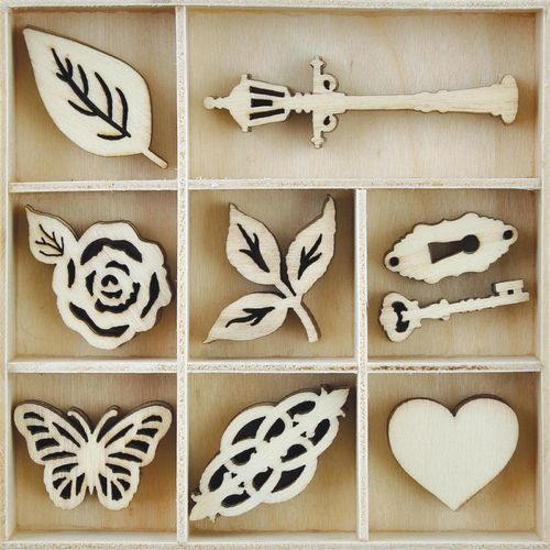 KAISERCRAFT FL600 wood flourish garden