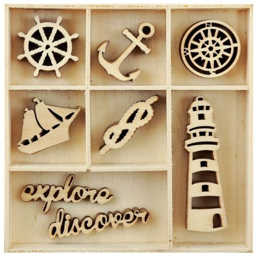 KAISERCRAFT FL591 wood  flourish  Nautical