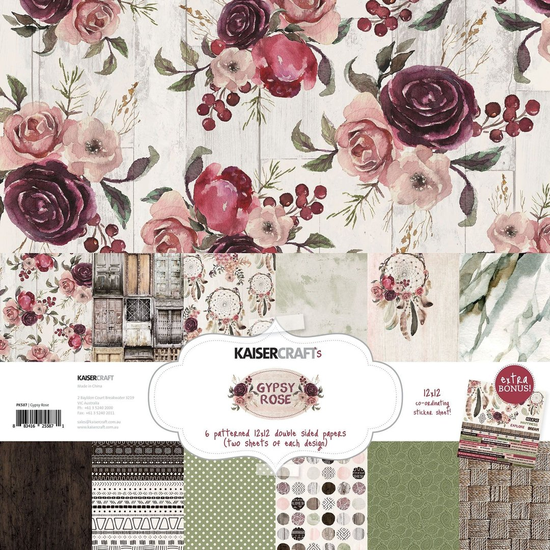 KAISERCRAFT Gypsy Rose PAPER PACK