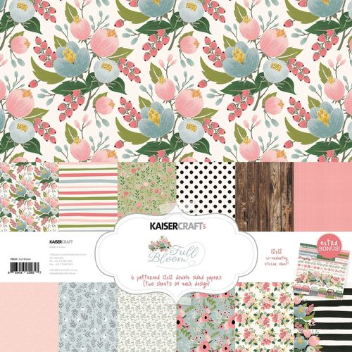 KAISERCRAFT Full Bloom PAPER PACK