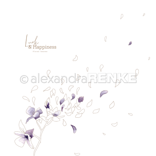 A. RENKE - Carta 'Luck & Happiness flying flowers'