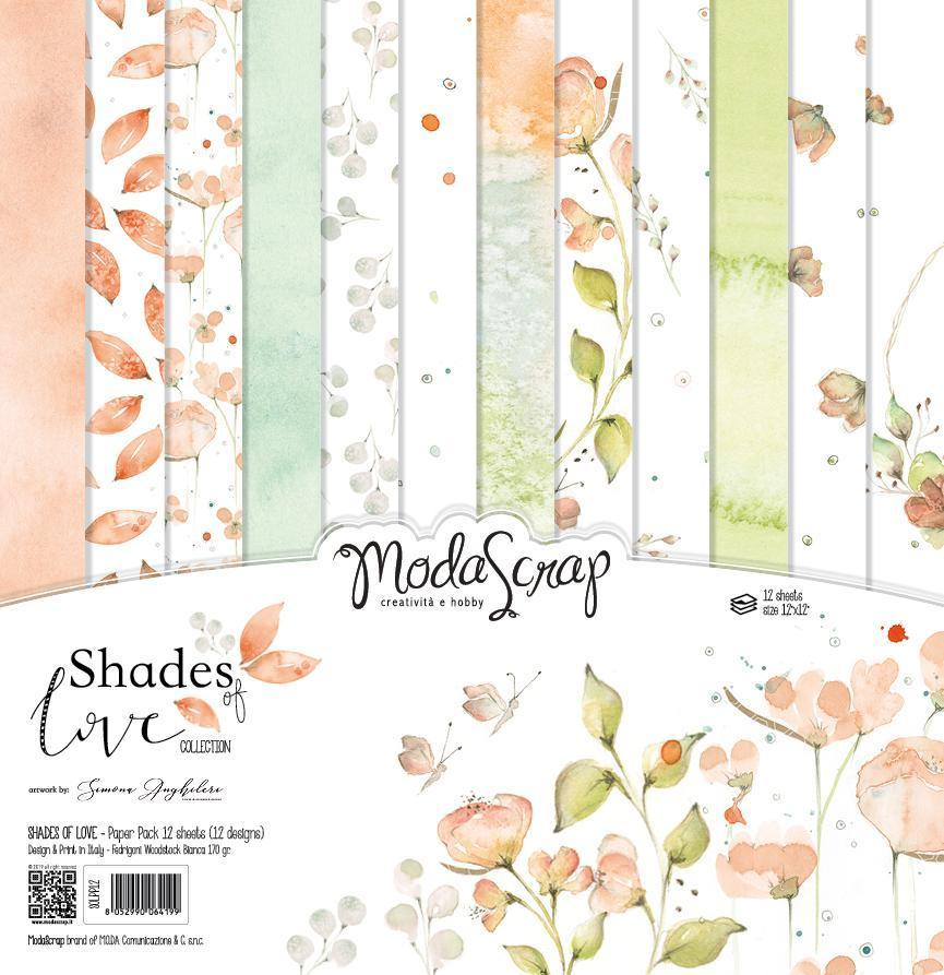 MODASCRAP - PAPER PACK SHADES OF LOVE 12X12""