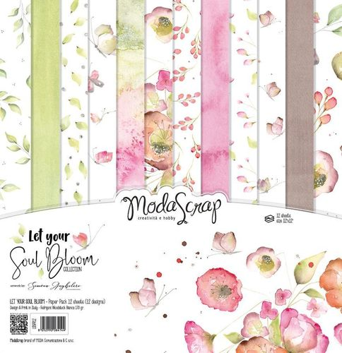 MODASCRAP - Paper Pack LET YOUR SOUL BLOOM 12X12""