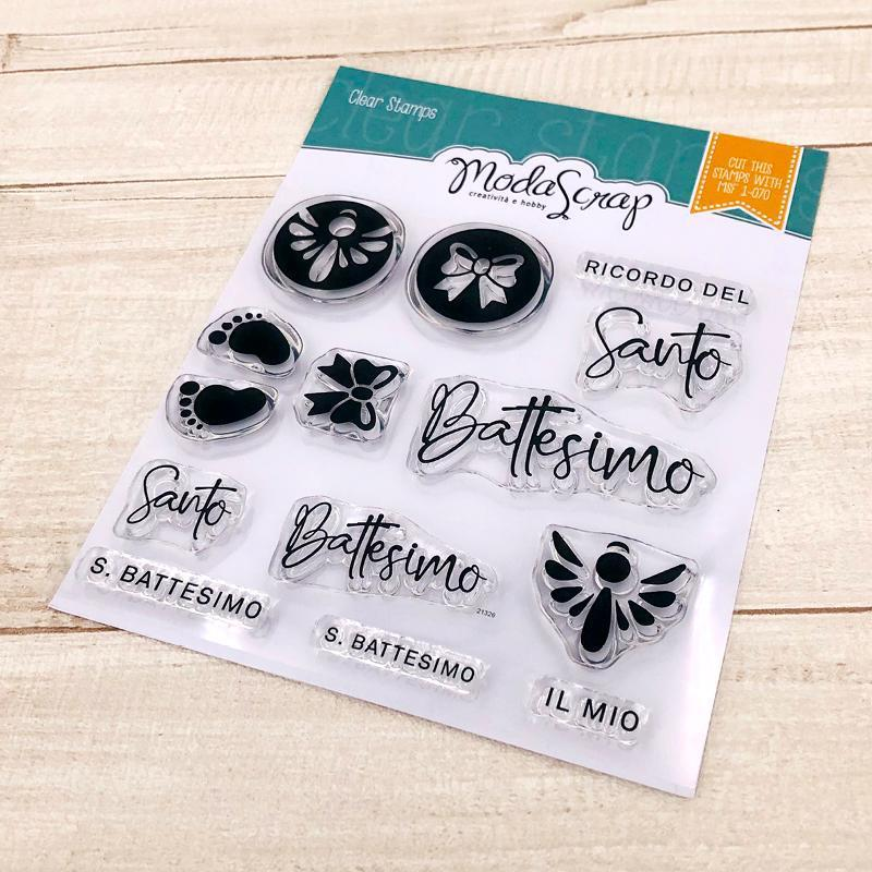 MODASCRAP CLEAR STAMPS MSTC 2-014 - BATTESIMO