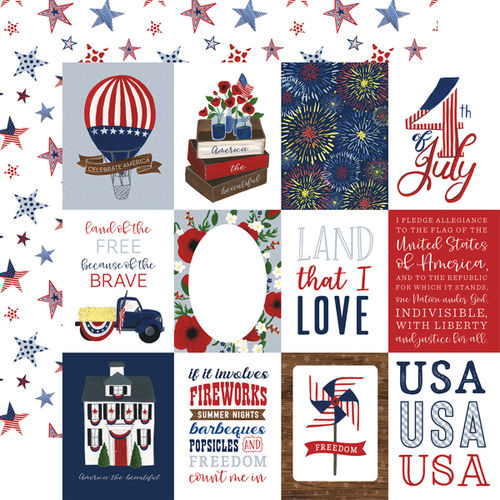 ECHO PARK  America the Beautiful - 3x4 J.Cards