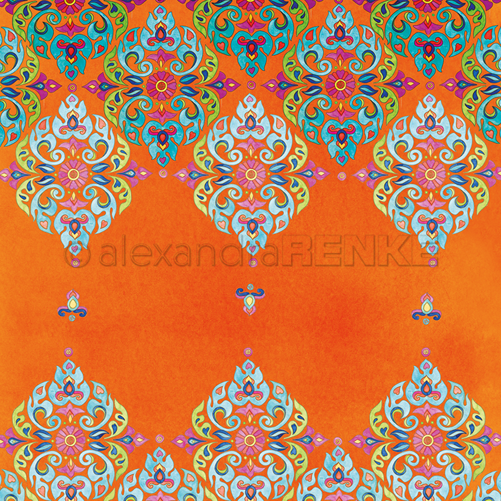 A. RENKE - Mandala - Mandala row up on Orange