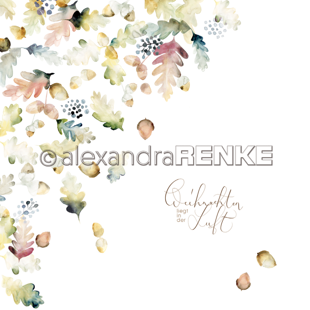 A. RENKE-Carta X-MAS FLORAL: Acorns (MODIFICARE)