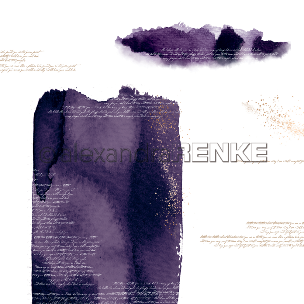 A. RENKE-Carta ABSTRACT WATERCOLORS violet