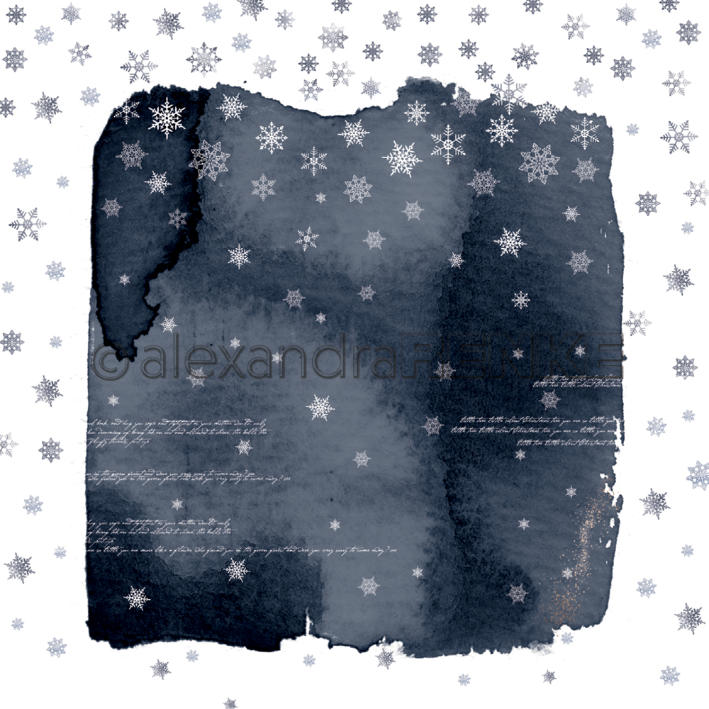 A. RENKE-Carta ABSTRACT WATERCOLORS snow flakes dark