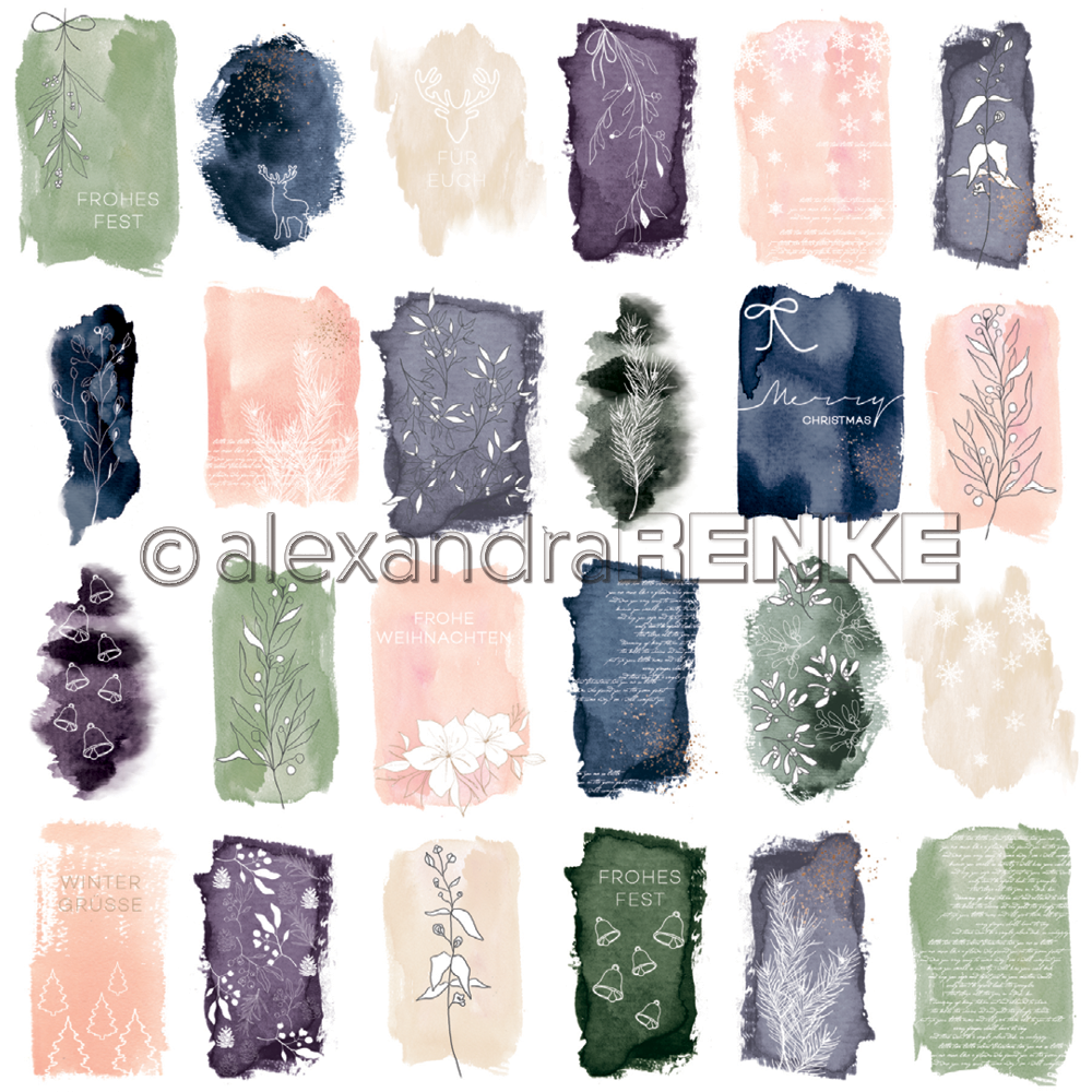A. RENKE-paper ABSTRACT WATERCOLORS Card sheet