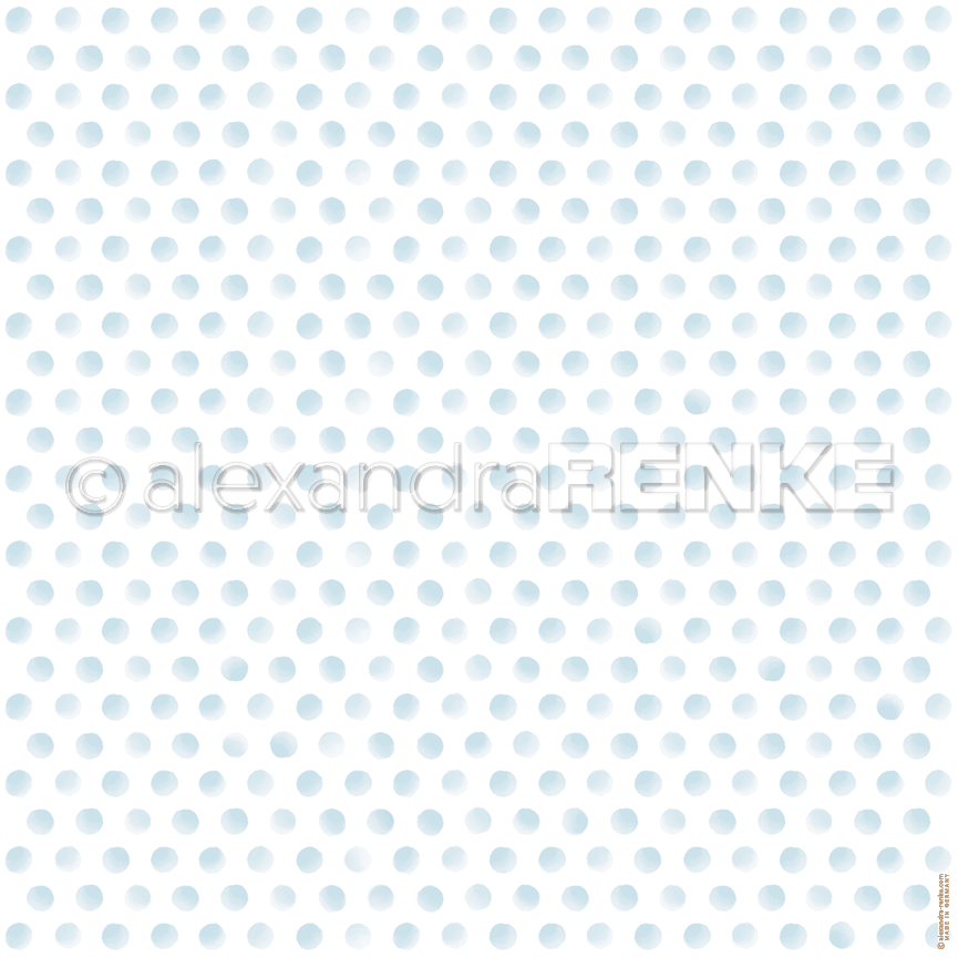 "A. RENKE-Carta ""Dots blue"""