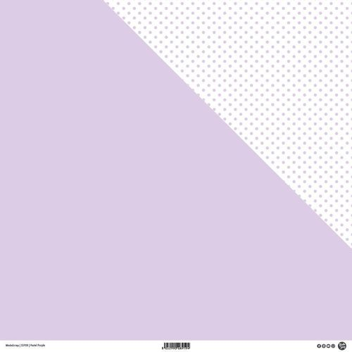 MODASCRAP - Carta  PASTEL PURPLE - DOUBLE FACE