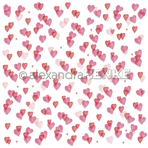 A. RENKE - Carta Hearts love  - Many middle hearts