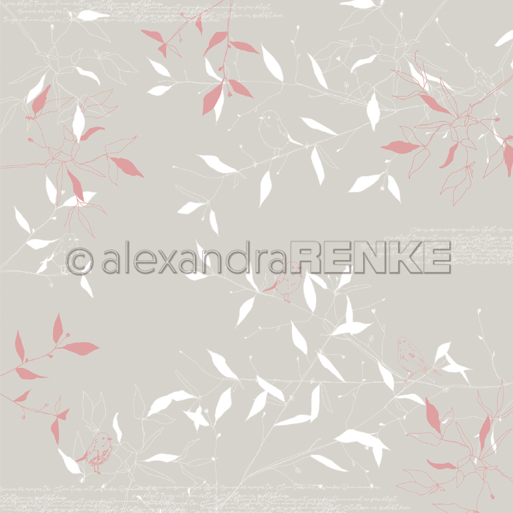 A. RENKE-Carta SPRING FLOWERS birds on branches