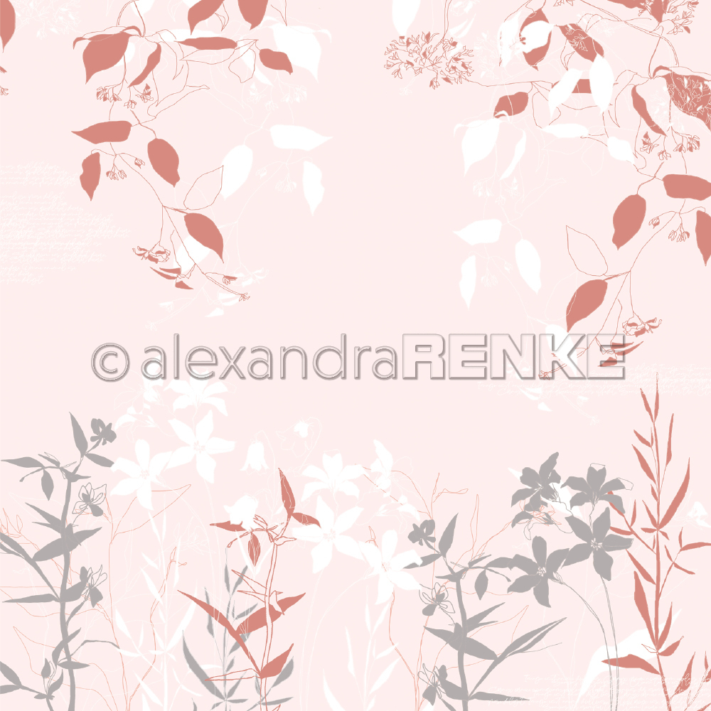 A. RENKE-Carta SPRING FLOWERS pink-red