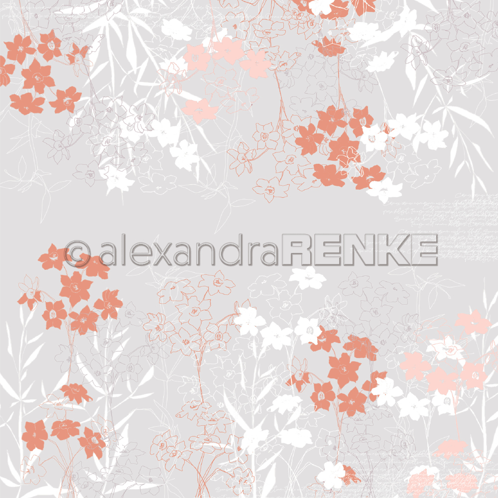 A. RENKE-Carta SPRING FLOWERS light grey-orange