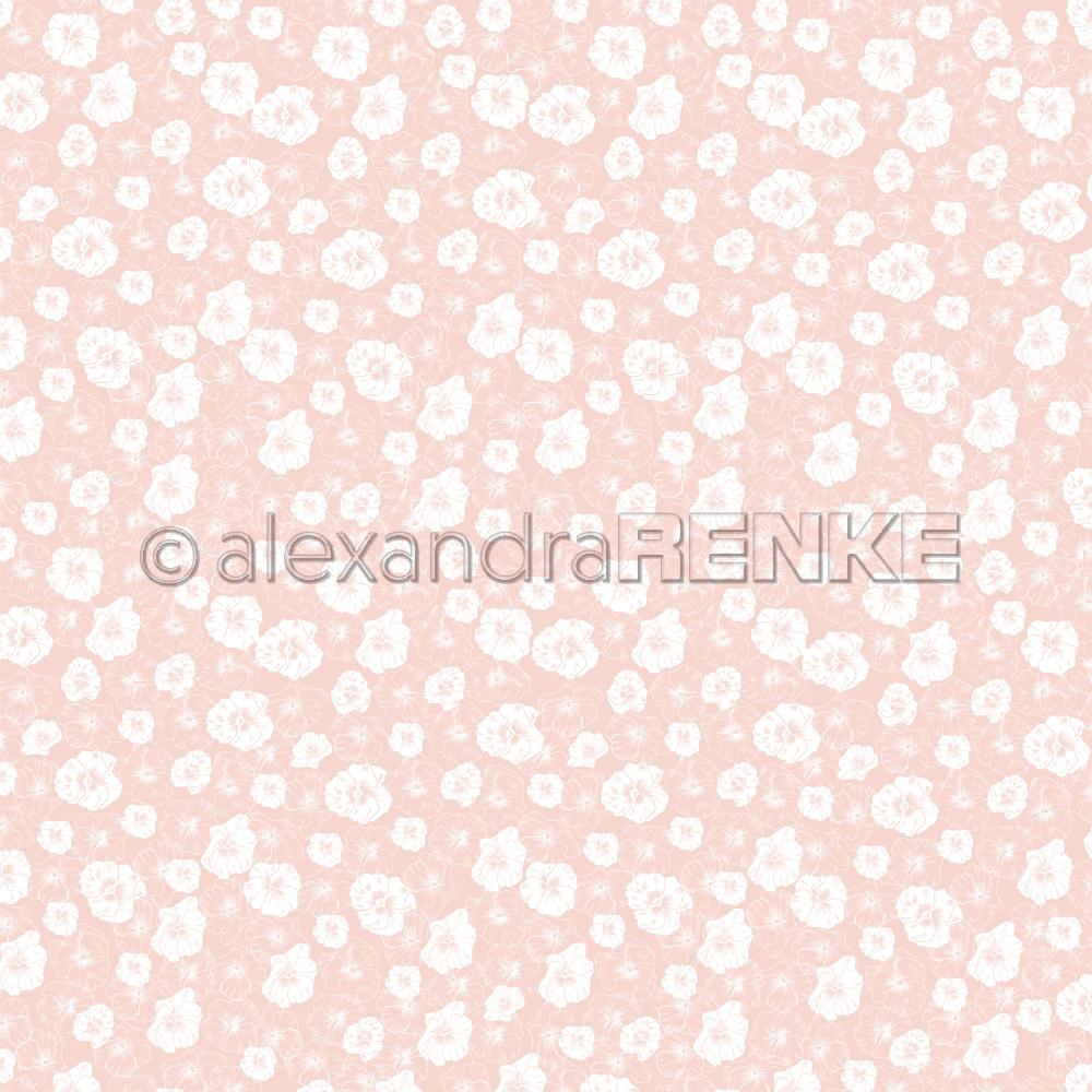 A. RENKE-Carta SPRING FLOWERS background pink