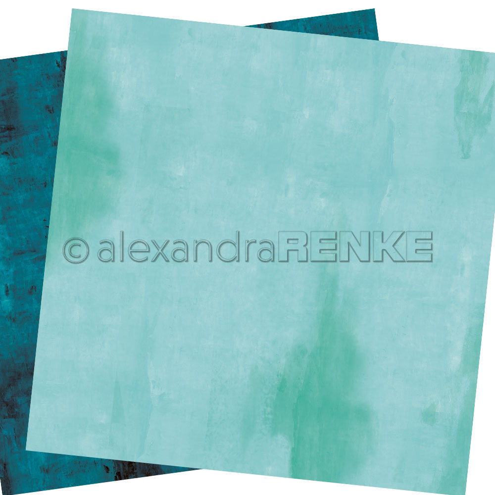 A. RENKE - Carta double-sided 'calm turquoise'