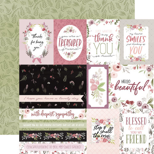 CARTABELLA-FLORA N.3-ELEGANT JOURNALING CARDS