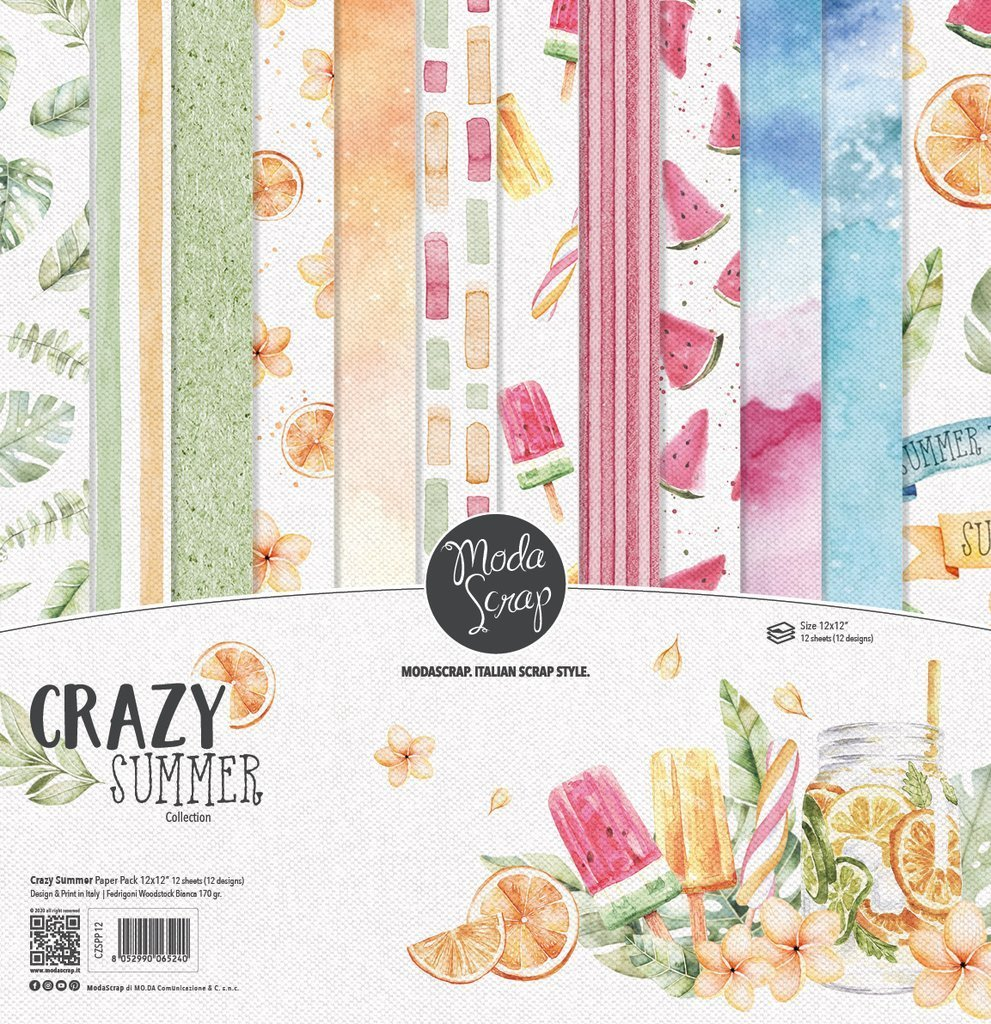 MODASCRAP - PAPER PACK CRAZY SUMMER - 12X12""
