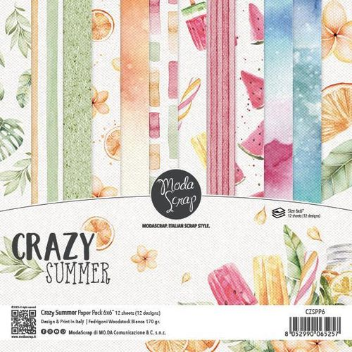 MODASCRAP - Paper Pack CRAZY SUMMER 6X6""
