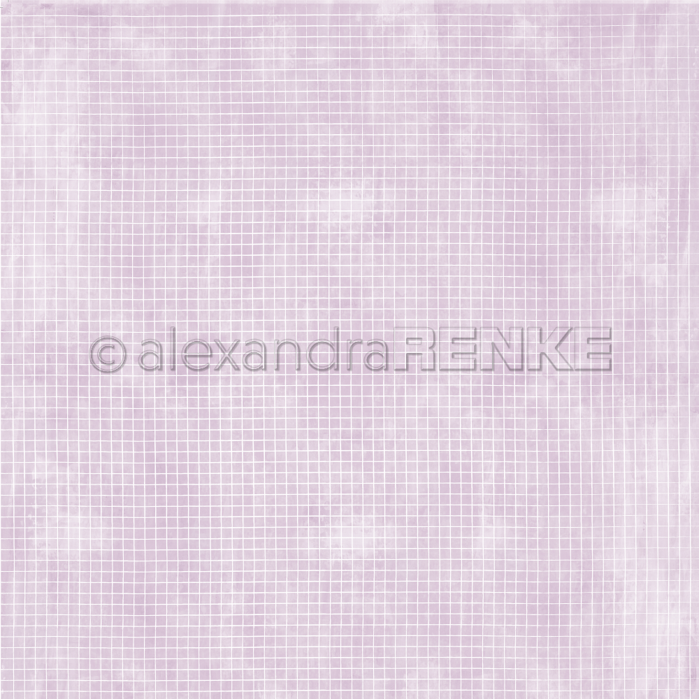 A. RENKE-Carta  'Checkered on LAVENDER '