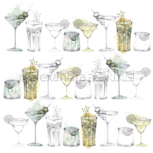 A. RENKE-Carta 'Green Cocktails Sketches'