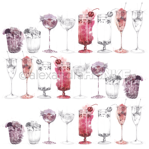A. RENKE-Carta 'Berry Cocktails Sketches'