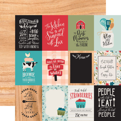 ECHO PARK - Farmhouse Kitchen 3X4 JOURNALING CARDS