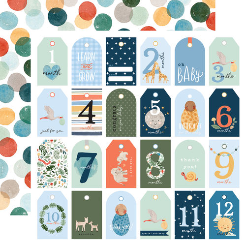 ECHO PARK  Welcome Baby Boy - BOY TAGS