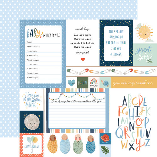 ECHO PARK  Welcome Baby Boy -MULTI JOURNALING CARDS